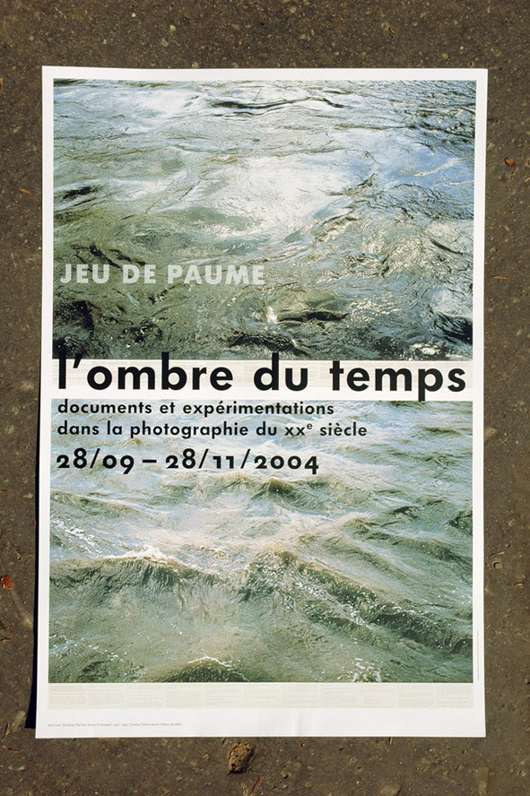 Poster for the 'l'ombre du temps' exhibition, first version of the logo.
