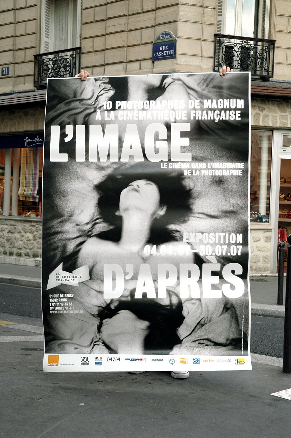 Poster with the stills of Antoine d'Agata.